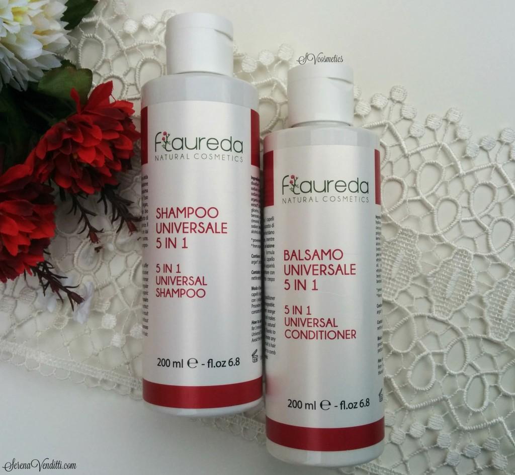 Flaureda Natural Cosmetics - Shampoo e Balsamo universali 5in1