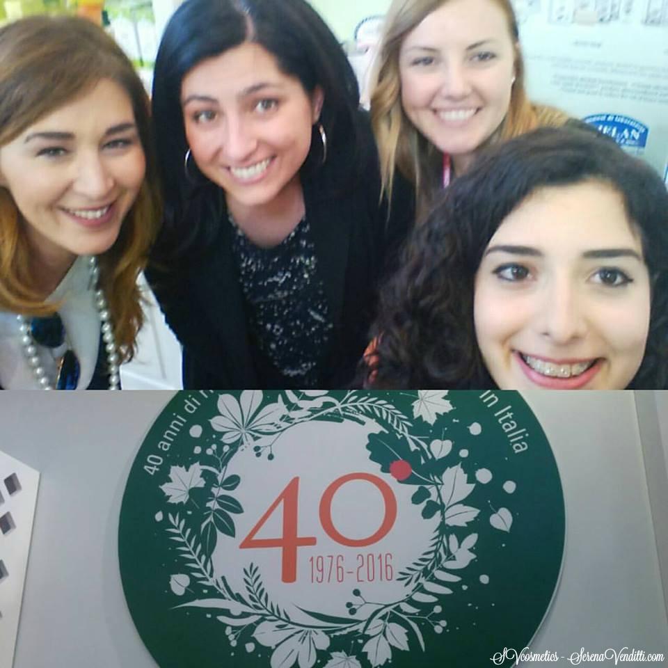 Con Sara (al centro) di Helan cosmesi di laboratorio, Laura (a sinistra) di il mio beauty e Federica Damasco ( a destra) di Shoes Bags and cakes