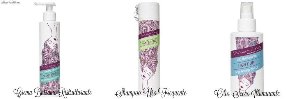 Crema Balsamo Ristrutturante - Shampoo uso frequente - Olio secco illuminante BioMarina