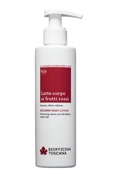 Latte corpo ai frutti rossi - BiofficinaToscana