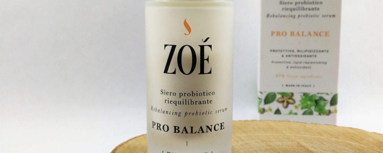 Siero Probiotico riequilibrante Pro Balance – Zoé Cosmetics {Review}